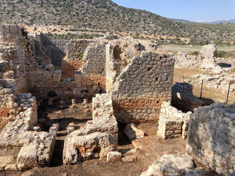 Lycian Antieke Stad in Turkije Lycianbeschaving royalty-vrije stock foto