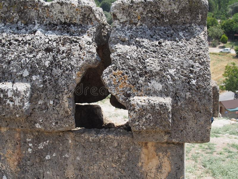 lycian tomb royaltyfri fotografi