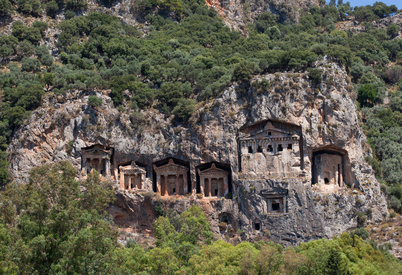Download Lycian Tombs stock photo. Image of river, vacations, mediterranean - 22982014