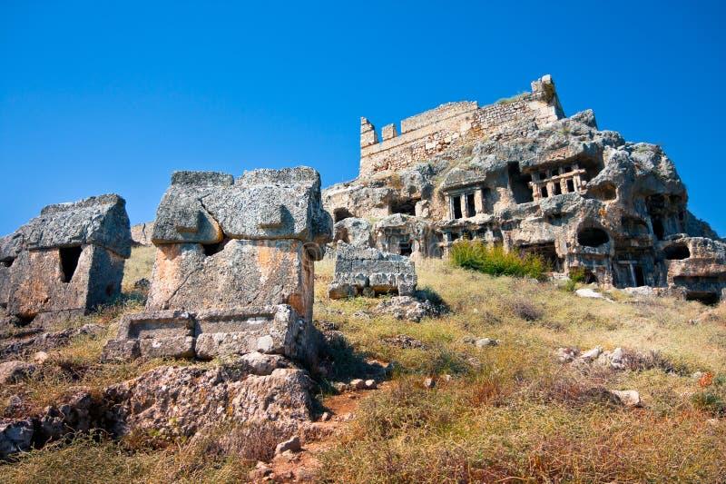Lycian Tombs stock image