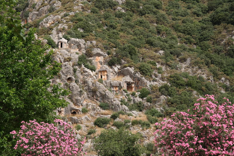 Lycian tombs royalty free stock photography