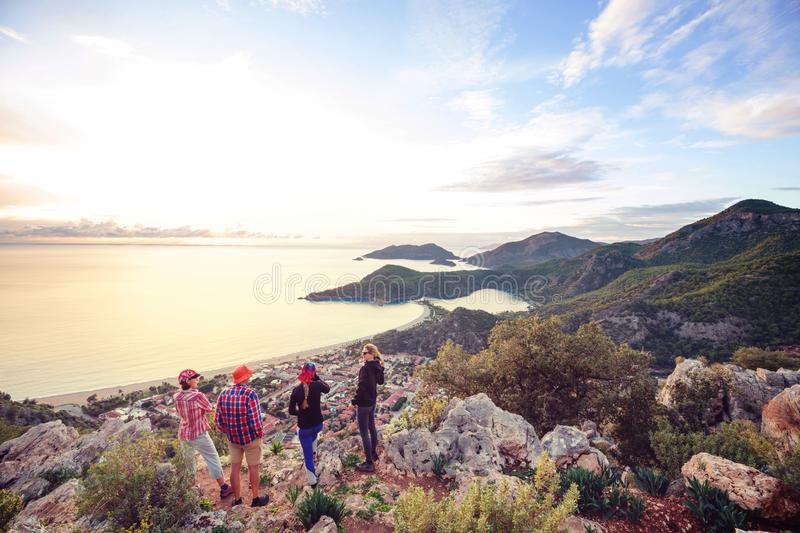 Lycian way. Beautiful nature landscapes in Turkey mountains. Lycian way is famous among hikers stock photo