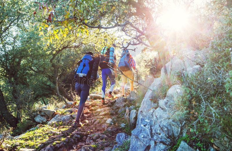 Lycian way. Beautiful nature landscapes in Turkey mountains. Lycian way is famous among hikers stock image