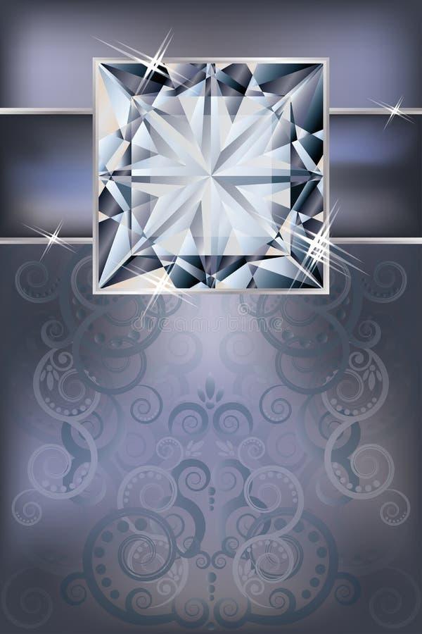 Lyckönskaninbjudankort Med Diamanten Royaltyfri Foto