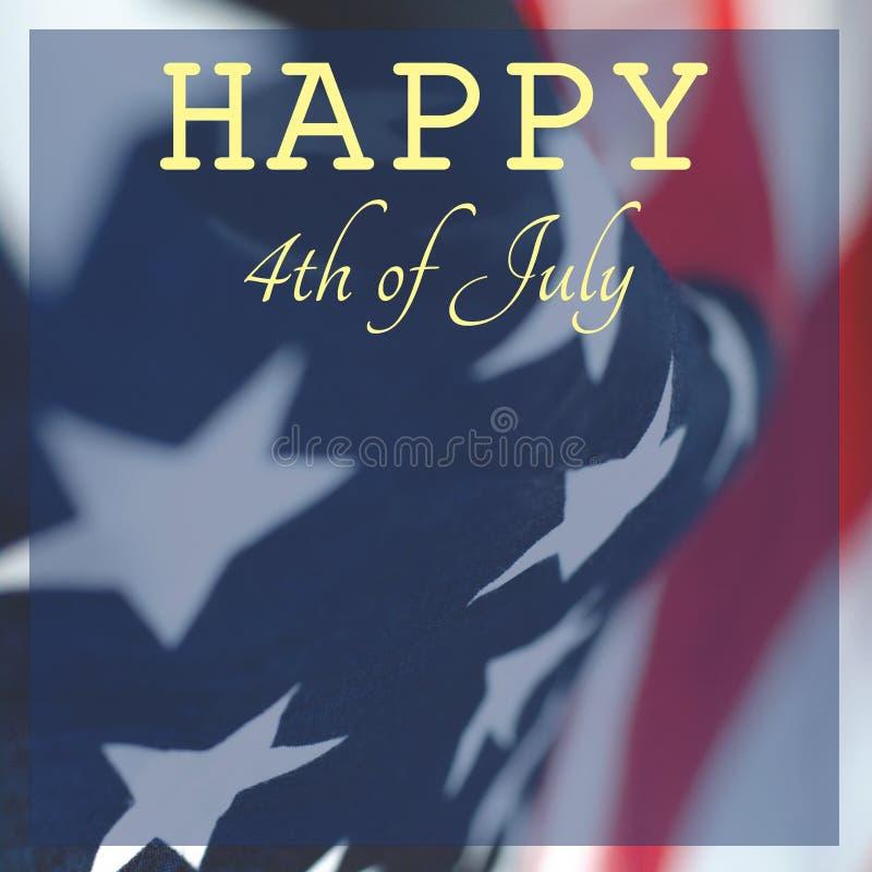Lyckönsknings- foto av självständighetsdagen av Amerika royaltyfria foton