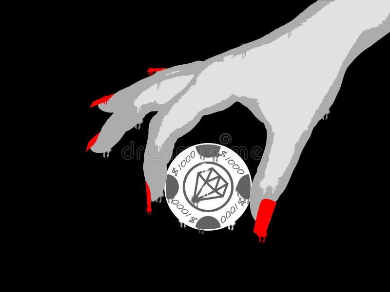 Download Lycka för grungehandlady stock illustrationer. Illustration av spray - 510086