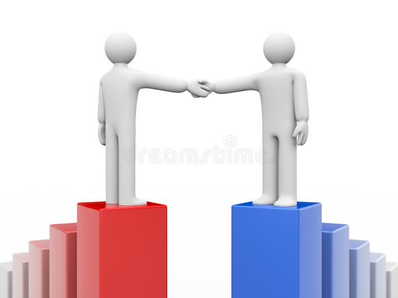 lyckad överenskommelse royaltyfri illustrationer