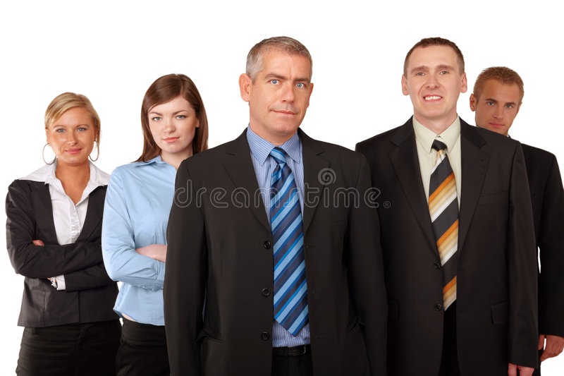 lyckad affärsgrupp arkivfoto