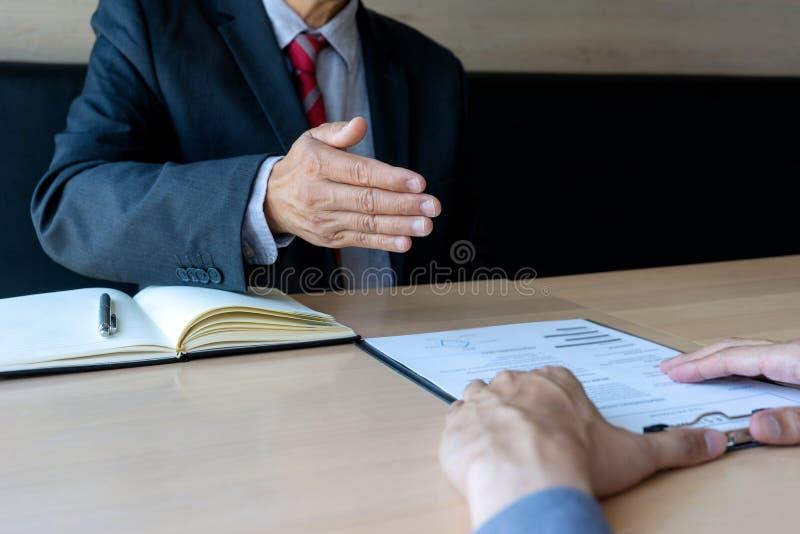 Lyckad affärsintervju royaltyfri foto