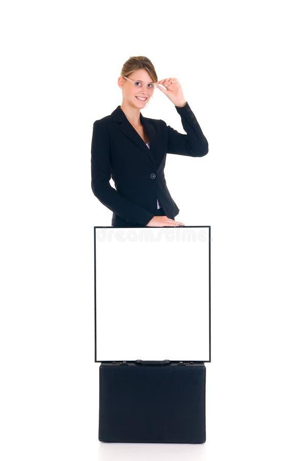 lyckad affärskvinna arkivfoto
