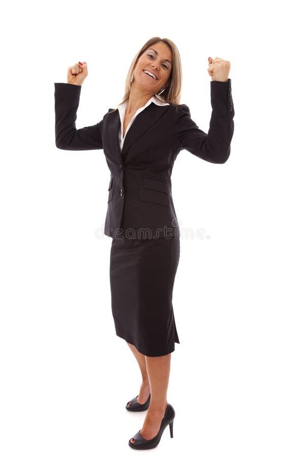 lyckad affärskvinna arkivbilder