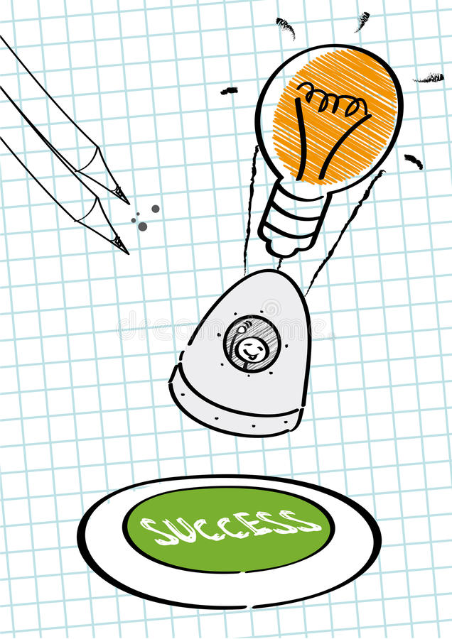 Lyckad beskickning, idéer vektor illustrationer