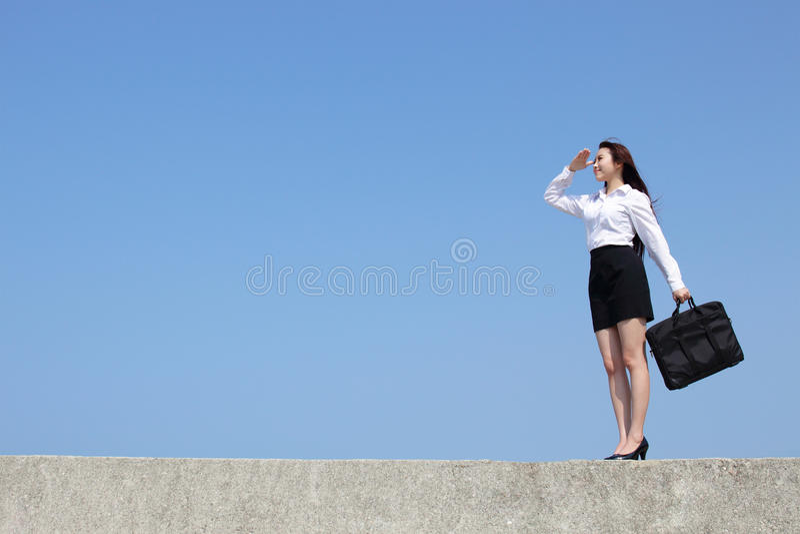 Lyckad blick för affärskvinna fotografering för bildbyråer