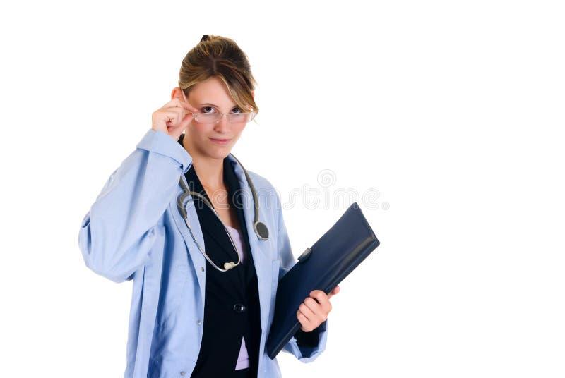 lyckad doktorskvinnlig arkivfoto