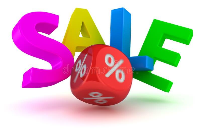Lyckad försäljning stock illustrationer