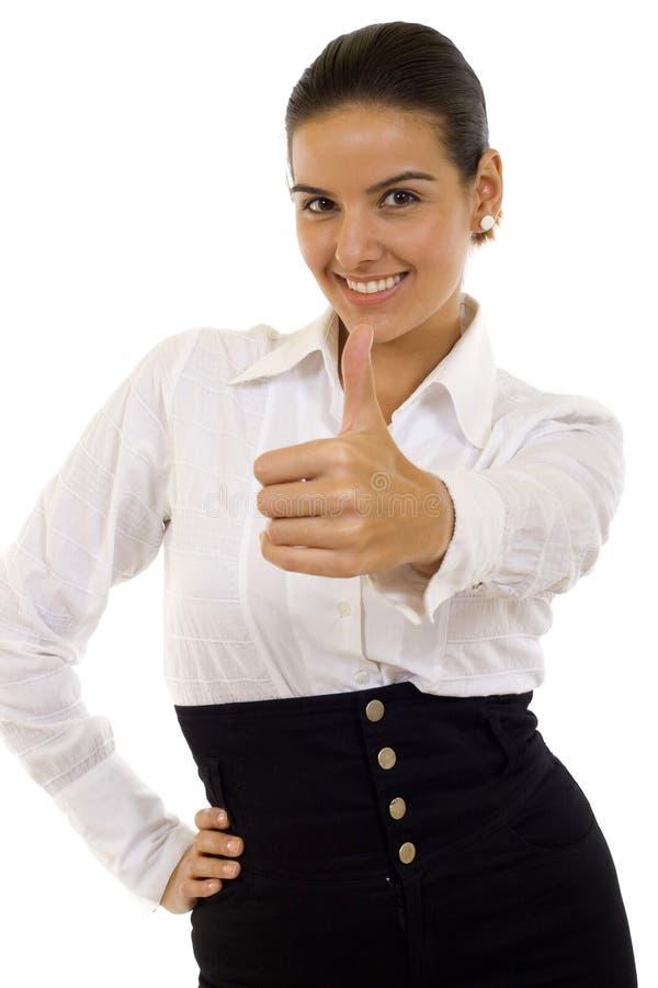 lyckad lycklig bild för affärskvinna royaltyfri fotografi