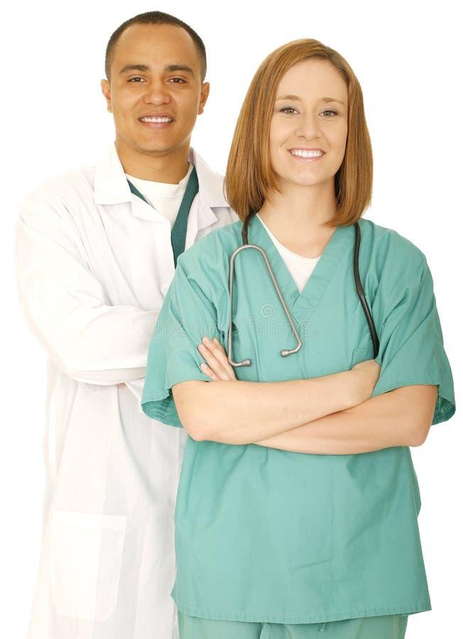 lyckad medicinsk personal royaltyfri foto