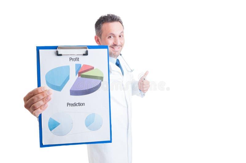 Lyckad röding för vinst för sjukhuschef-, doktors- eller läkarevisning royaltyfri bild