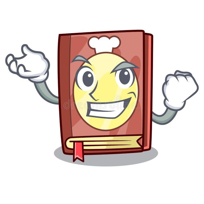 Lyckad receptbok som isoleras i tecknade filmen stock illustrationer