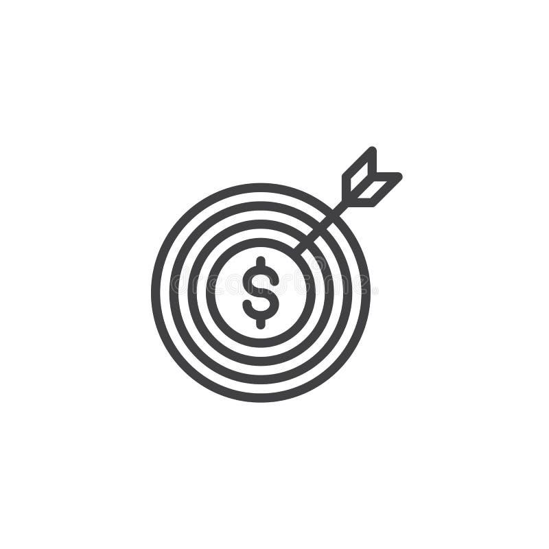 Lyckad symbol för affärsmarknadsföringsöversikt royaltyfri illustrationer