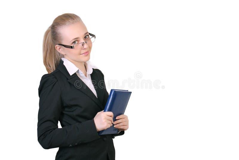 Lyckad ung affärskvinna royaltyfri fotografi