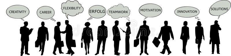 lyckade businesspeople vektor illustrationer