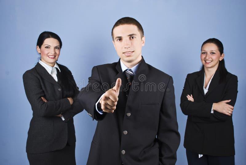 lyckat lag för affärsfolk arkivfoto