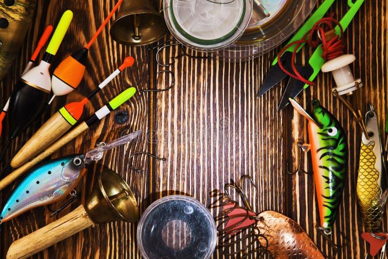 lyckat redskap för stor fiskespinner royaltyfria foton
