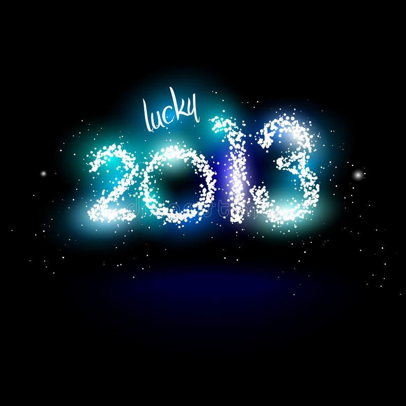 Lycklig 2013 royaltyfri illustrationer