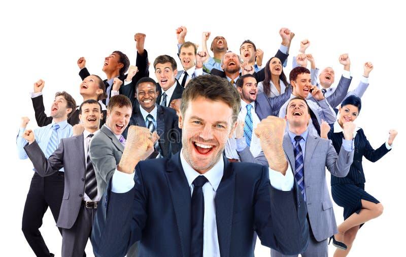 Lycklig affärsgrupp royaltyfri foto