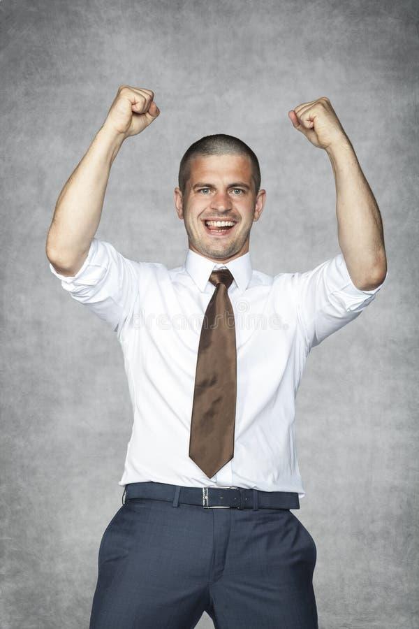 lycklig affärsman arkivfoto