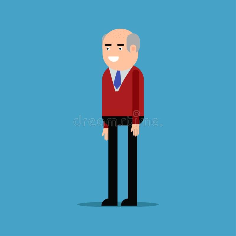 Lycklig affärsman i en röd skjorta vektor illustrationer
