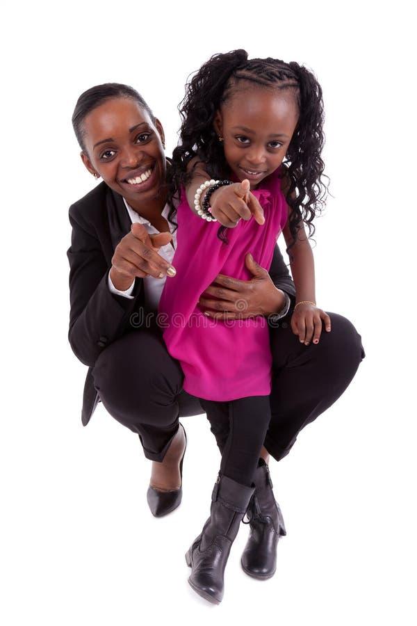 lycklig afrikansk dotter henne moder royaltyfria bilder