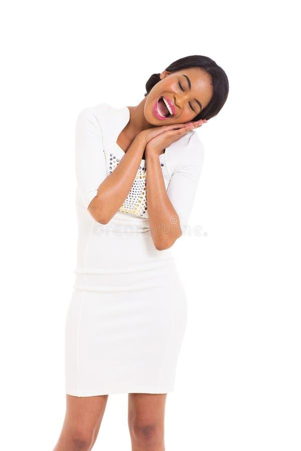 Lycklig afrikansk kvinna fotografering för bildbyråer