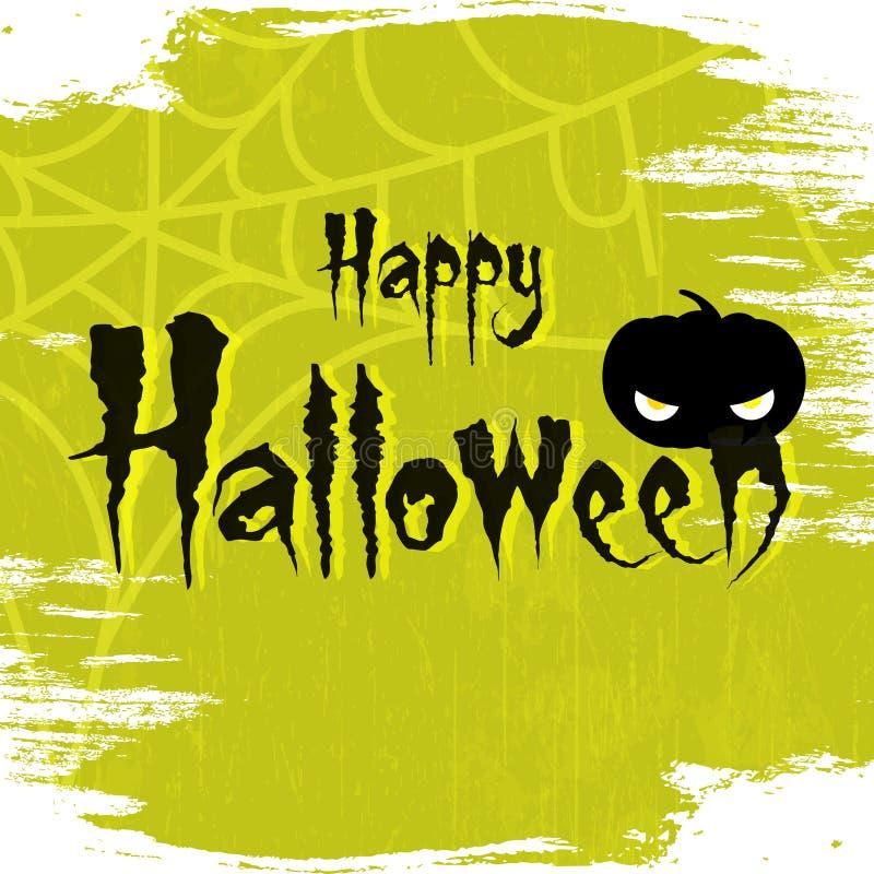 Lycklig allhelgonaaftonvektorillustration 2018 med läskig bakgrund och text av lyckliga halloween vektor illustrationer