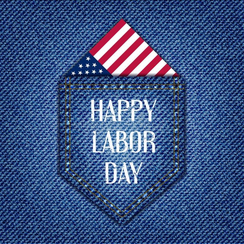 Lycklig arbets- dag av amerikanen stock illustrationer