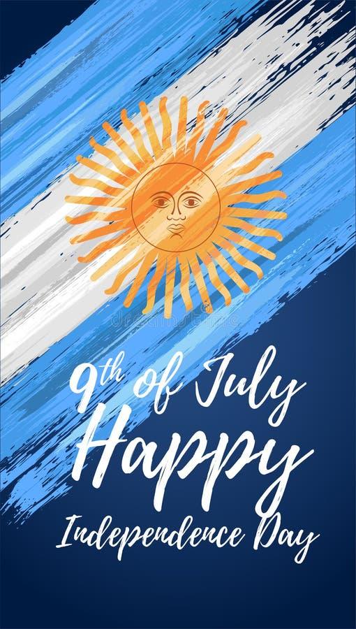 Lycklig Argentina självständighetsdagen 9th Juli vektor illustrationer