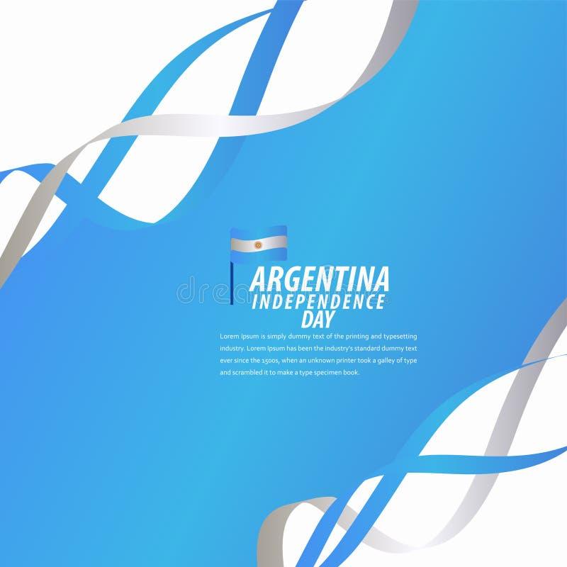 Lycklig Argentina självständighetsdagenberöm, affisch, illustration för design för mall för bandbanervektor stock illustrationer
