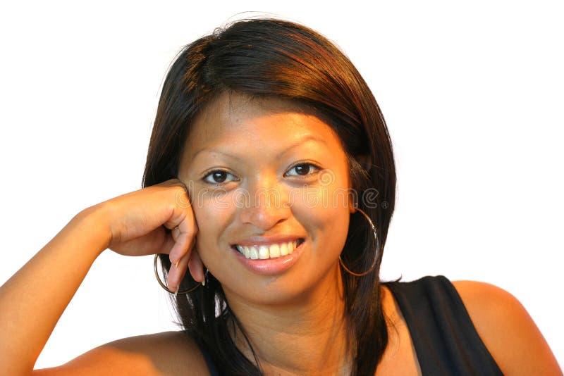 Download Lycklig asiatisk flicka fotografering för bildbyråer. Bild av vitt - 231401