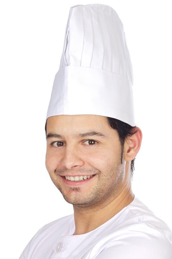 lycklig attraktiv kock royaltyfria foton