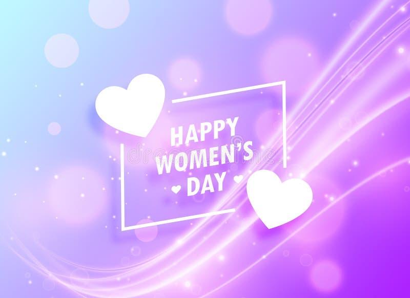 lycklig bakgrund för design för hälsning för dag för kvinna` s för marsch 8 royaltyfri illustrationer
