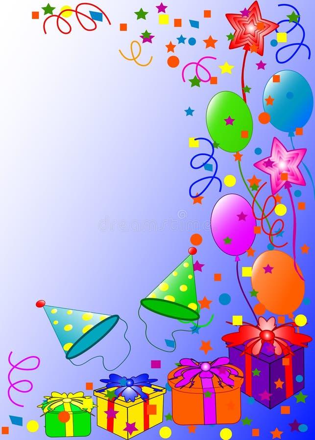 lycklig bakgrundsfödelsedag royaltyfri illustrationer