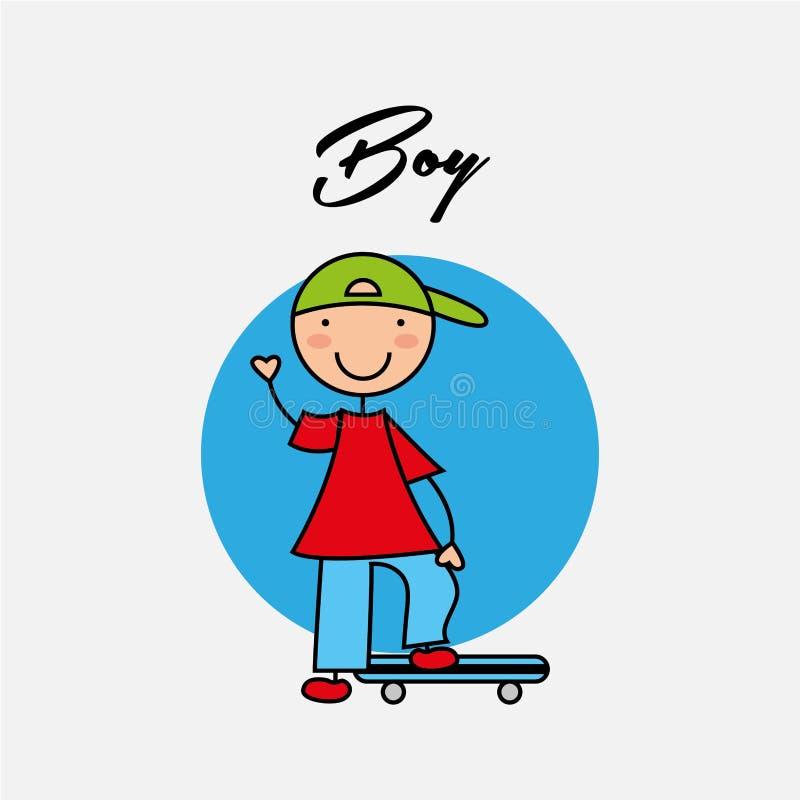 Lycklig barndesign royaltyfri illustrationer