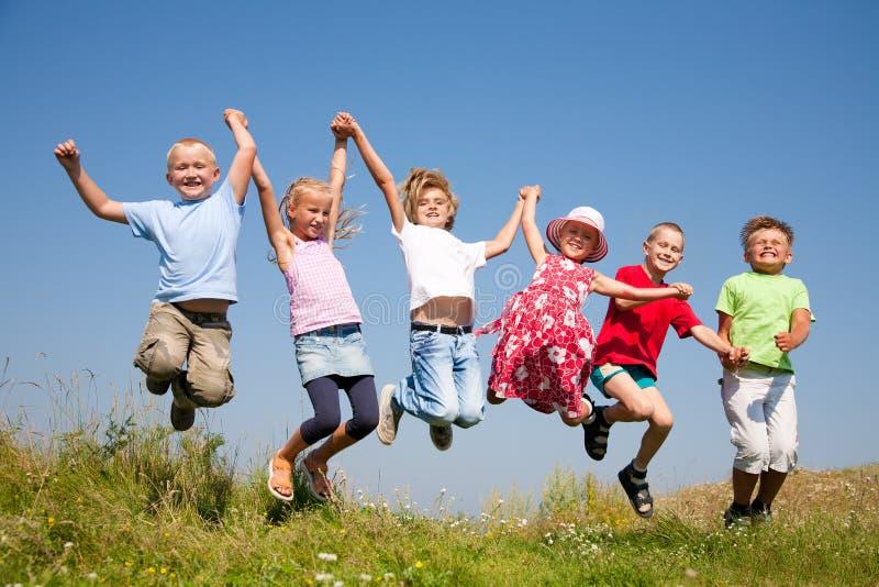 lycklig barndom royaltyfri foto