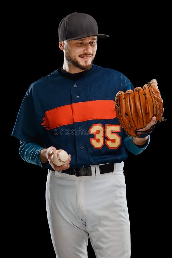 Lycklig basebollspelare royaltyfri foto
