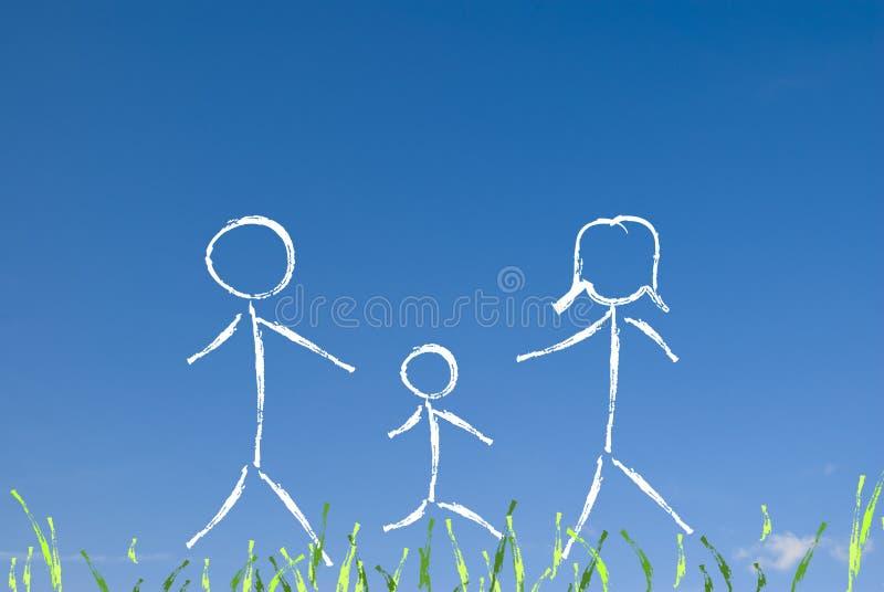 lycklig begreppsfamilj royaltyfri bild