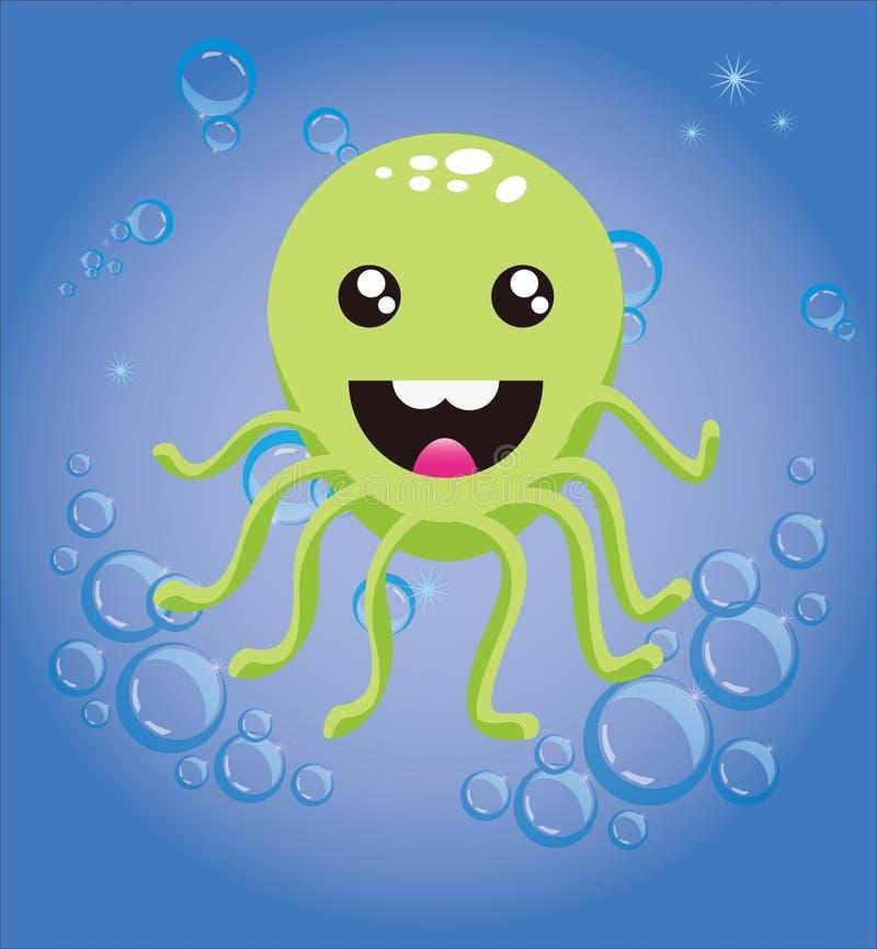 lycklig bläckfisk royaltyfria foton