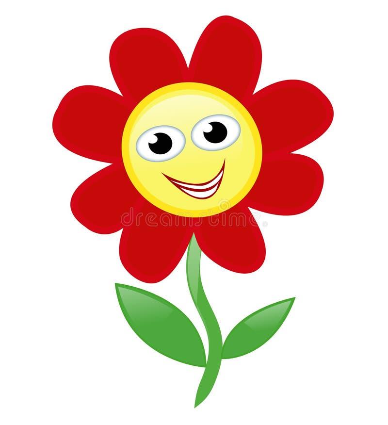 lycklig blomma stock illustrationer