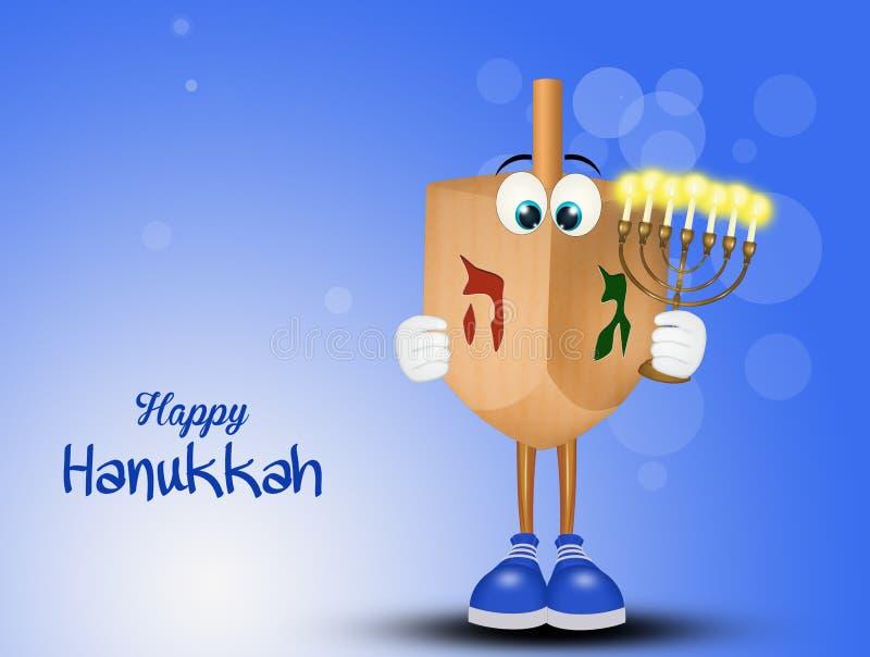 Lycklig Chanukkah, festival av ljus stock illustrationer