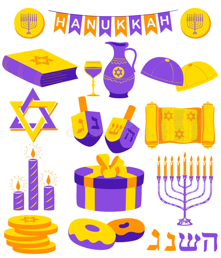 Lycklig Chanukkah, judisk feriebakgrund stock illustrationer
